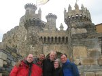 In front of the Ponferrada castle. Too expensive for our pilgrim budgets