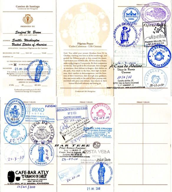Via de la Plata credencial 2010 (from Puebla de Sanabria)