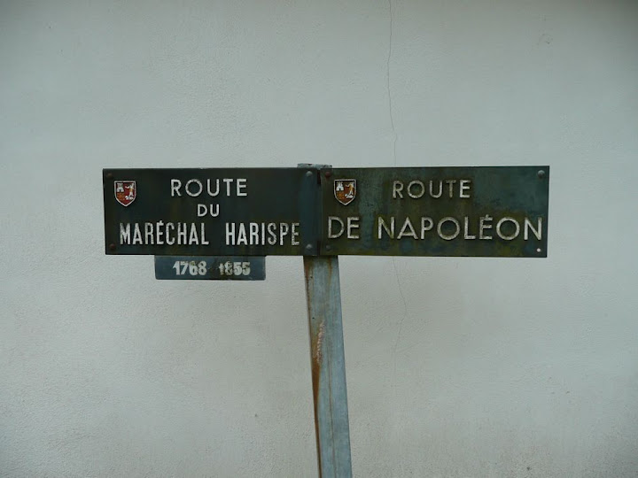 Sign post on Route Napoleon