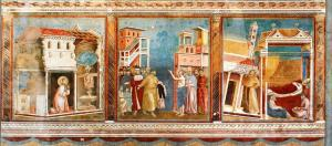 Fresco by Giotto at Basilica of St. Francis in Assisi.