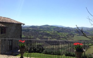 Guesthouse near Gubbio, with views toward Lake Valfabbrica. Gorgeous Umbria.