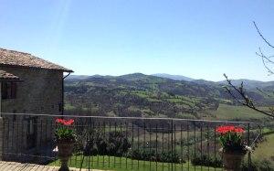 Guesthouse near Gubbio, with views toward Lake Valfabbrica. Gorgeous Umbria.