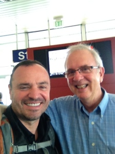 With Don at Gate S12 at SeaTac Airport - day of departure.
