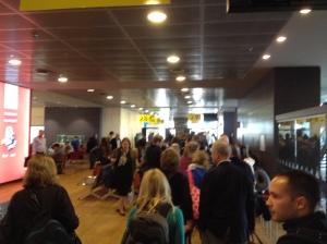 Inside the Reykjavik airport.