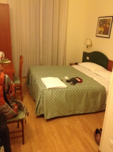 Hotel Girandola Bed and Breakfast. Just a block from Termini Station.