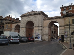 Three arches lead the way to a so far unexplored part of town.