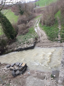Impassable stream near Gubbio