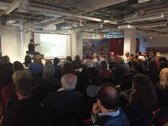 Presenting The Way of St. Francis at its launch party in London, 5 Nov 2015