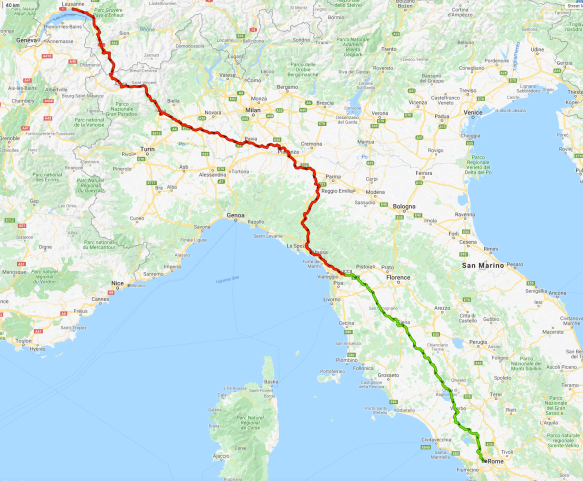 Via-Francigena-Sandy-Brown-map-Lausanne-Lucca-Rome